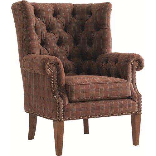 Lexington Quail Hollow Suffolk Button Tufted Wing Chair With Rolled Arms Wood Legs Lexington Furniture Lexington Home Furniture