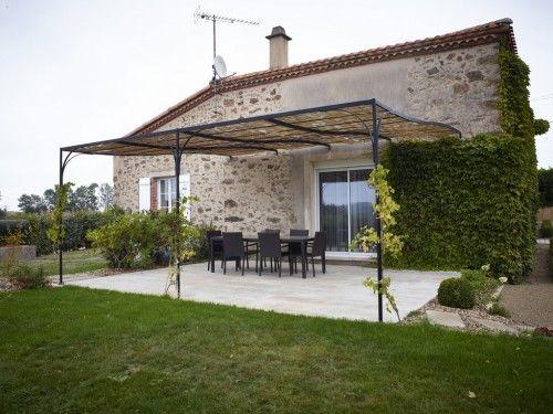 terrasse pergola métallique canisse - http://www.preaud-paysagiste ...