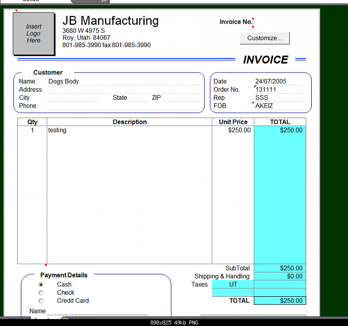 How Can I Make My Excel 2000 Invoice Template Work  Customer Invoice Template Excel