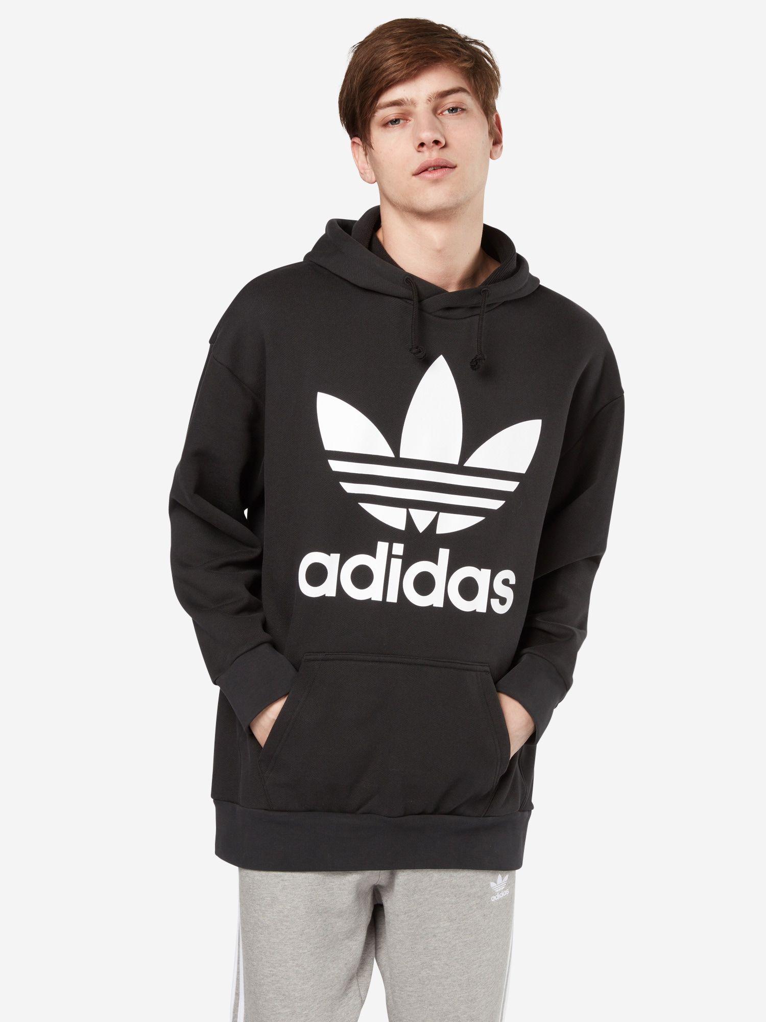 ADIDAS ORIGINALS Pullover Herren, Schwarz Weiß, Größe XL