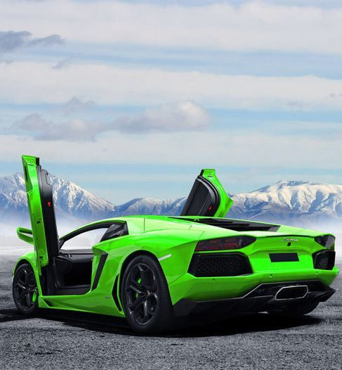 Ice Cool Lamborghini Aventador In Exotic Green