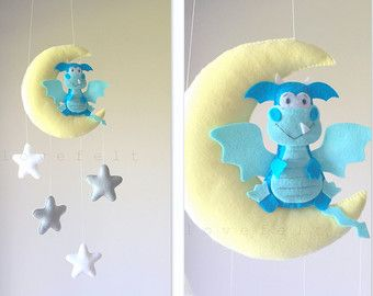 Baby mobile Moon mobile Crib Mobile mobile by lovefeltmobiles