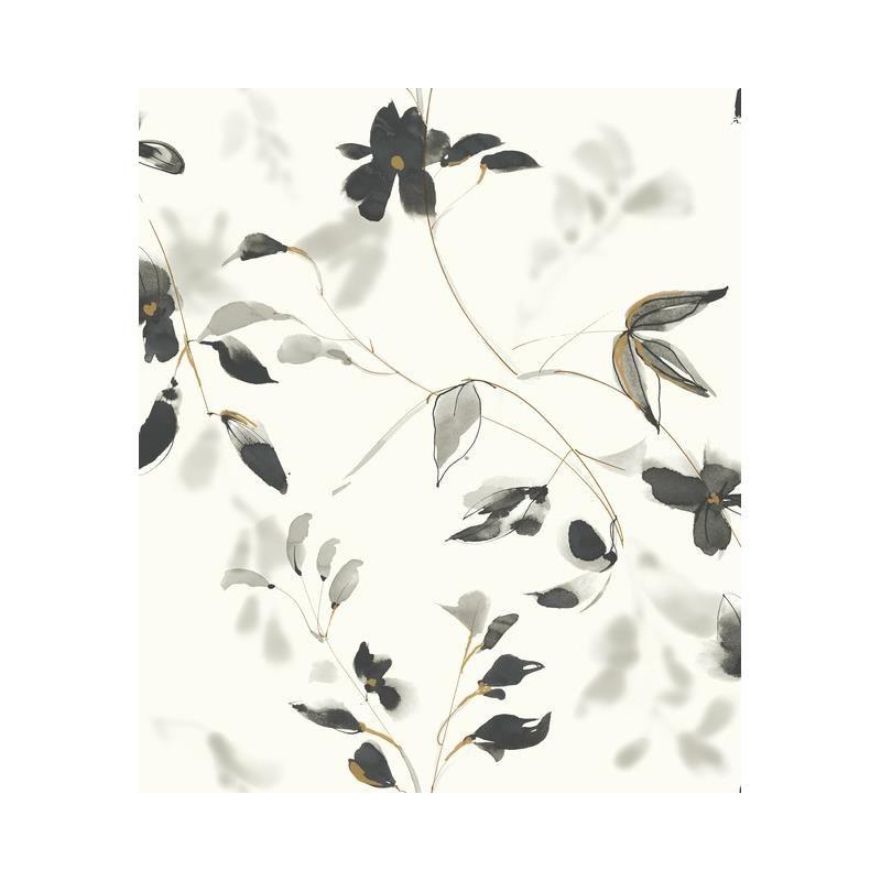 Psw1103rl Simply Candice Botanical Black Peel And Stick Wallpaper Peel And Stick Wallpaper Wallpaper Shop Wallpaper