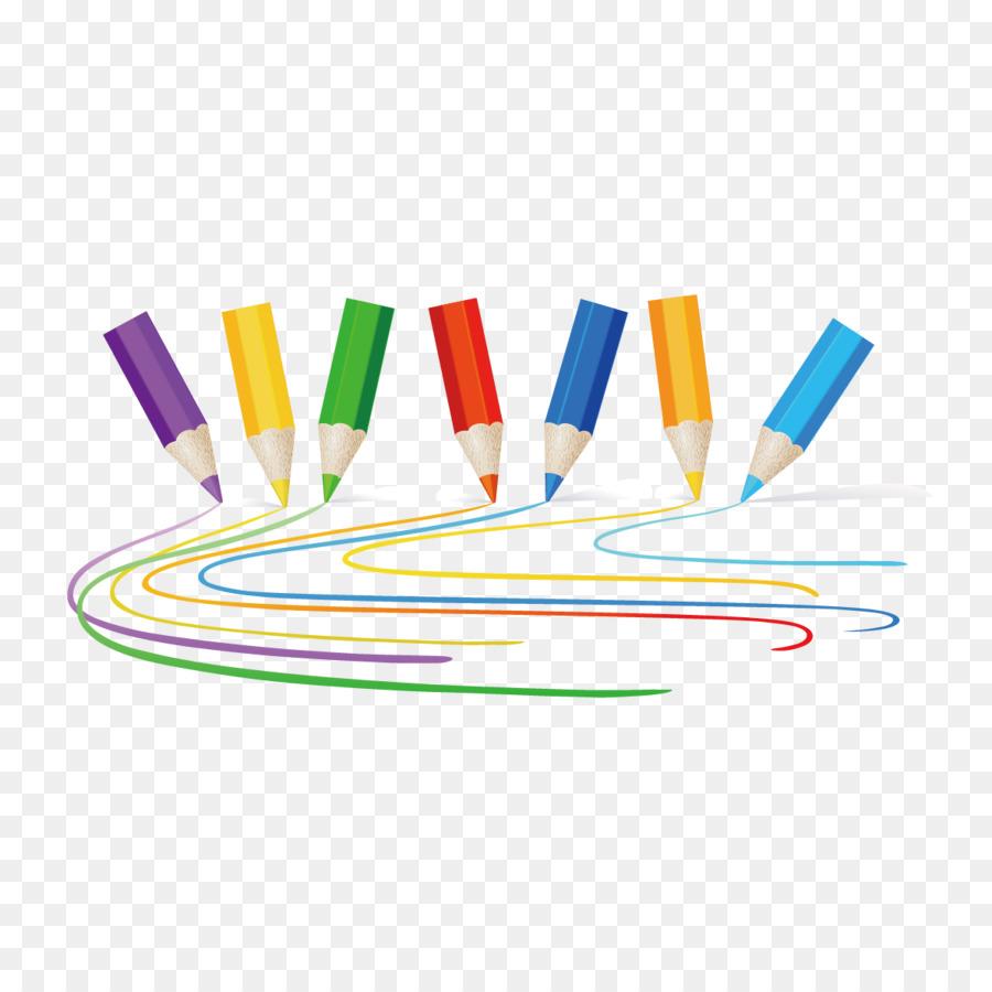 Kolorowe Kredki Rysunek Grafiki Vector Kolor Piora Colored Pencils Marker Pen Drawings