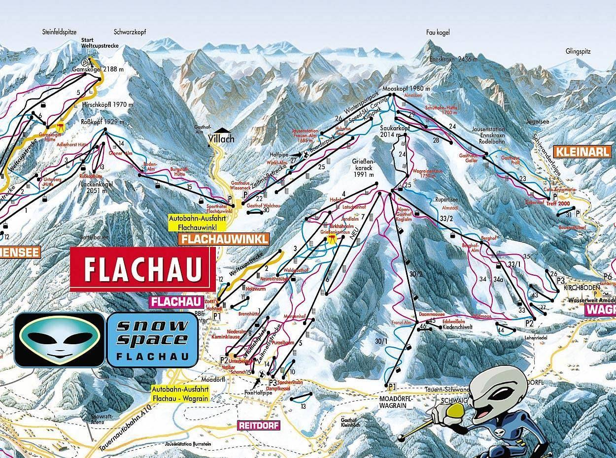 ski mapa - FLACHAU | Ski trip, Skiing, Ski area