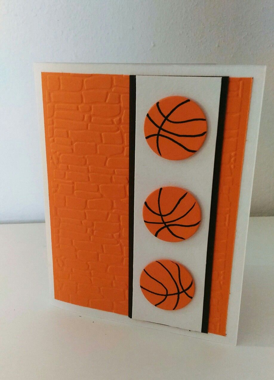 Diy basketball greeting card happy birthday wishes boys cards