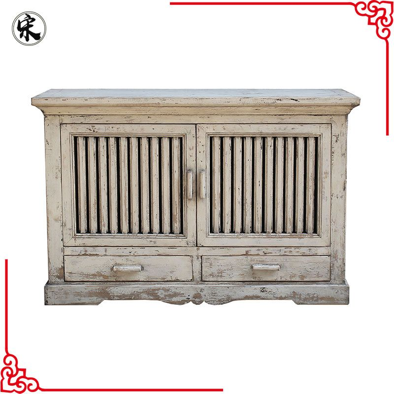 Beijing Chinese Antique Distressed Rustic Storage Buffet Furniture