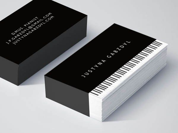 25 Best Piano Business Card Design How Tristan Should Dress Up