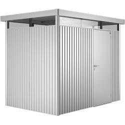 Photo of Biohort Gerätehaus HighLine (Silber Metallic, 1,95 x 2,75 x 2,22 m, Einzeltür) BioHort