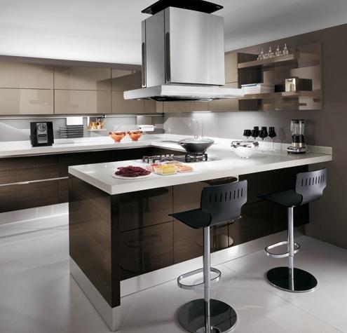 Cucina CU02_0003 Cucina componibile moderna, composizione angolare ...