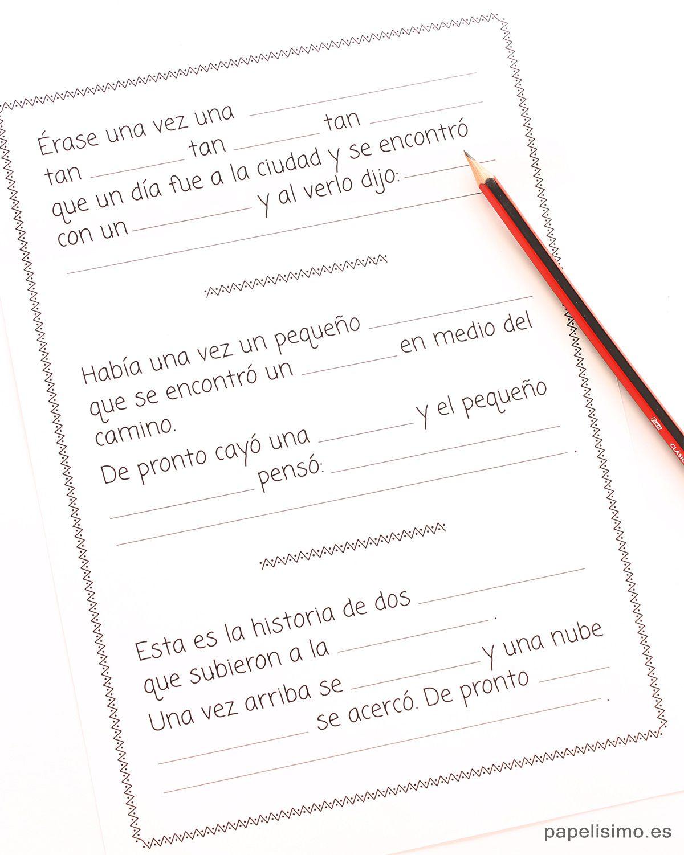 Plantilla-cuento-para-completar-para-niños | Libros para niños ...