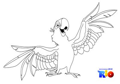 Rio Blu Cartoon Coloring Pages Animal Coloring Pages Coloring Pages