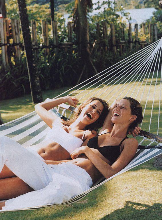 girls at hammock