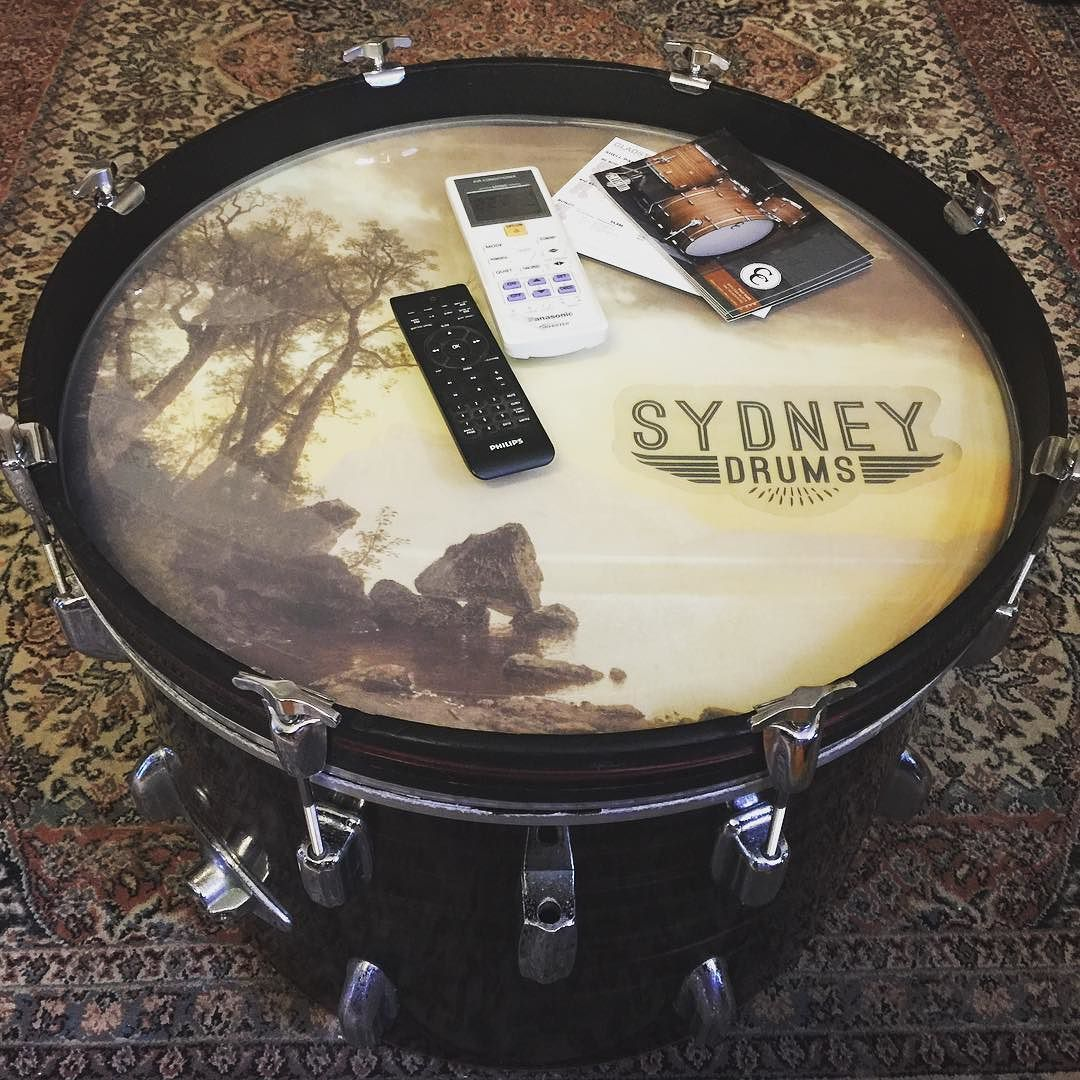 """20"""" coffee table for the drum school waiting room here at ..."""