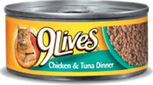 9 Lives Chicken and Tuna Dinner Canned Cat Food 550 oz