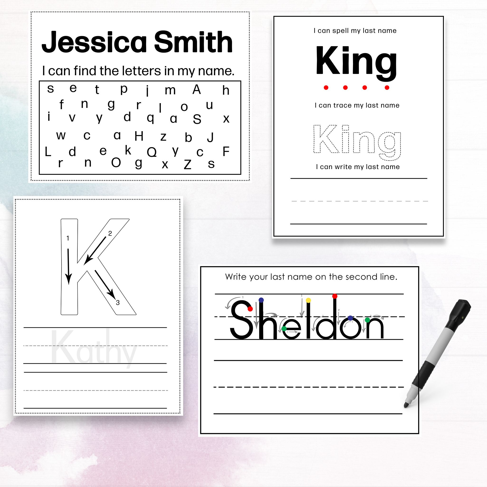 Personalized Preschool Name Recognition And Writing