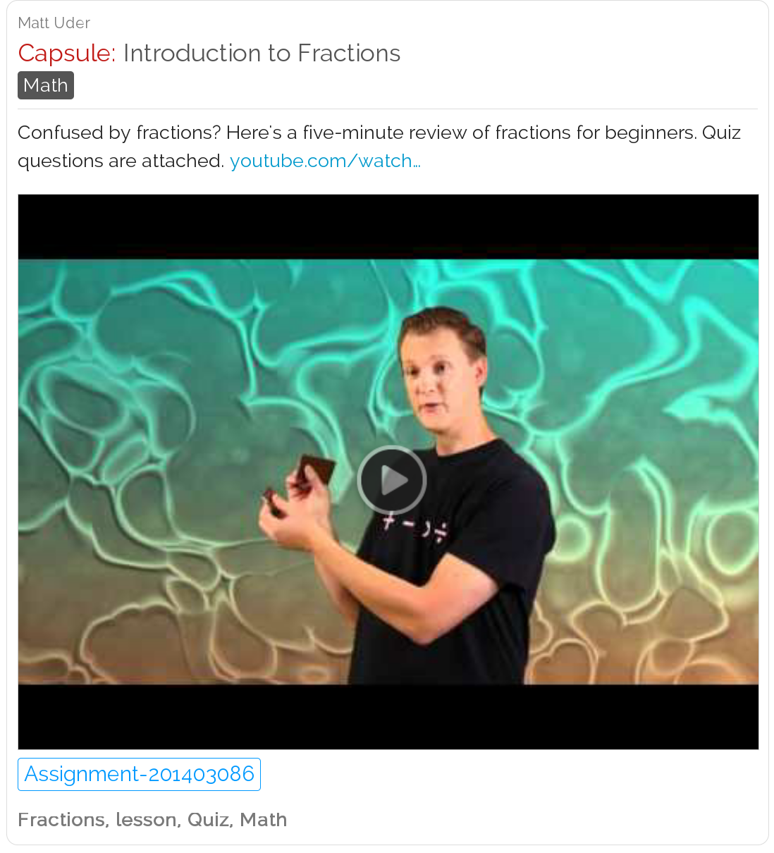 Introduction to Fractions - Fractions video with online quiz | Math ...