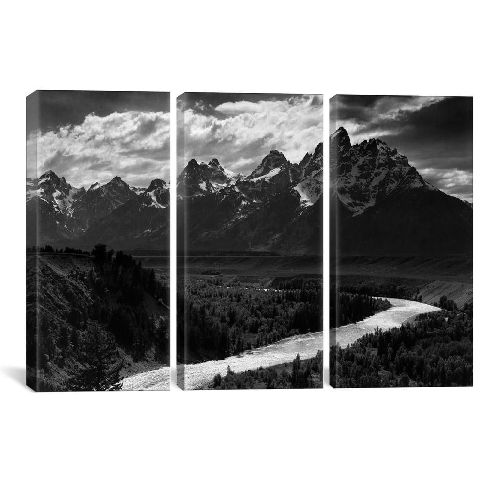 Icanvas Grand Teton Ii By Ansel Adams Canvas Wall Art Aad19 3pc3 60x4 The Home Depot Canvas Wall Art Wall Art Canvas Artwork