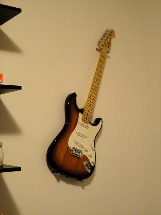 Hang Guitar On Wall i was a rockstar, hanging guitar - ikea hackers | teen boys room