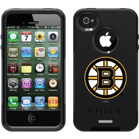 Boston Bruins Primary Logo Design on OtterBox Commuter Series Case for Apple iPhone 4/4s