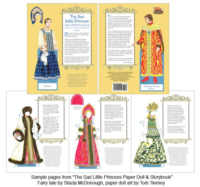 The Sad Little Princess Paper Doll  Storybook  Paper Doll Tom