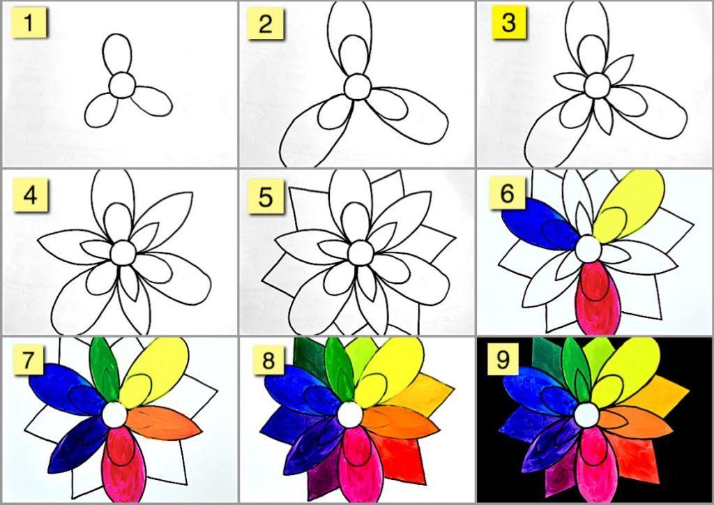 Art Lesson Flower Color Wheel Arte A Scuola