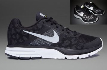 4a189a622ab6e Nike Womens Air Pegasus +30 Shield - Womens Running Shoes - Black-Reflective  Silver-Summit White