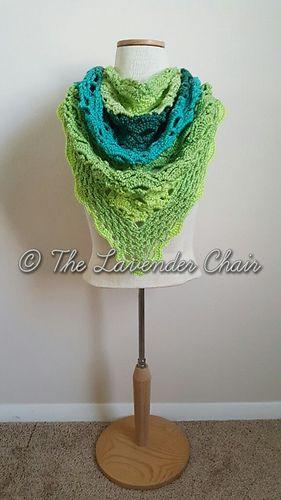 Gemstone Lace Shawl - Free Crochet Pattern - The Lavender Chair ...
