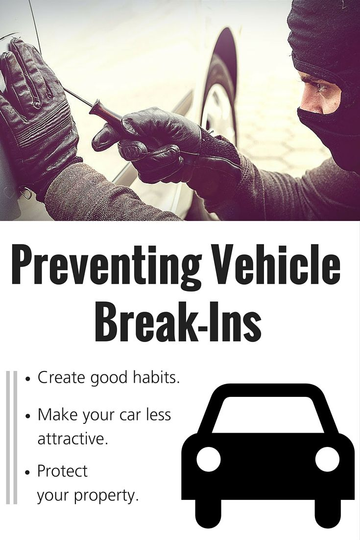 The Insurance Information Institute Says A Car Is Broken Into