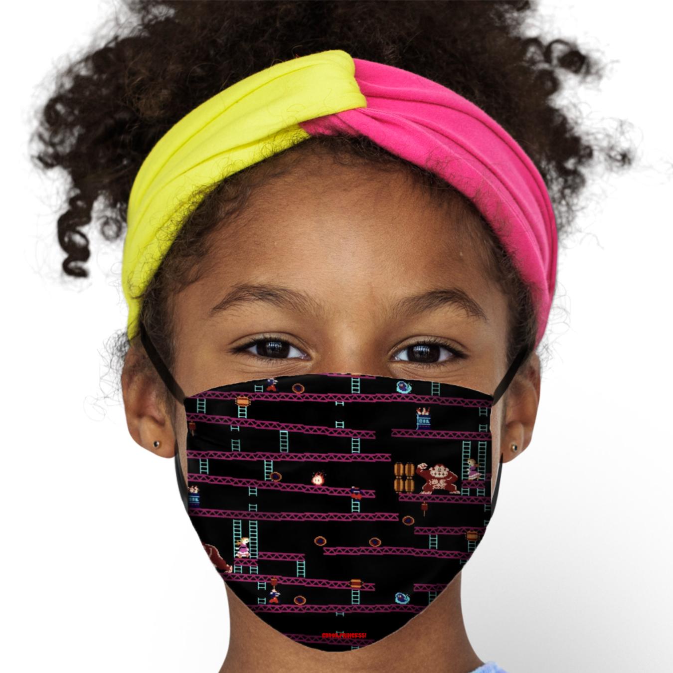 Donkey Kong Arcade Game Kids Face Mask Cbdoilprincess Donkey Kong Arcade Games Face Mask