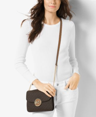 4cd724930298 MICHAEL Michael Kors Signature Small Fulton Flap Gusset Crossbody $198.00  Execute effortless street-chic style with MICHAEL Michael Kors's compact  crossbody ...