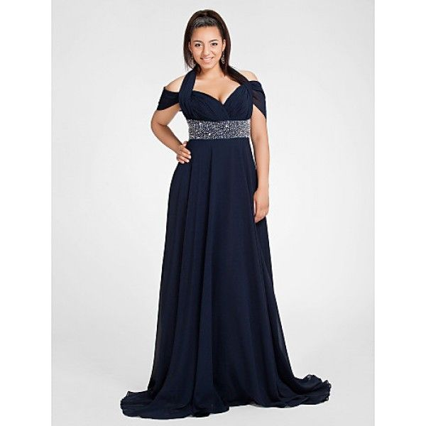 Plus size black medieval dress