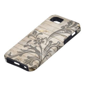 De moderne Houten Bloem van het Patroon Tough iPhone 5 Hoesje
