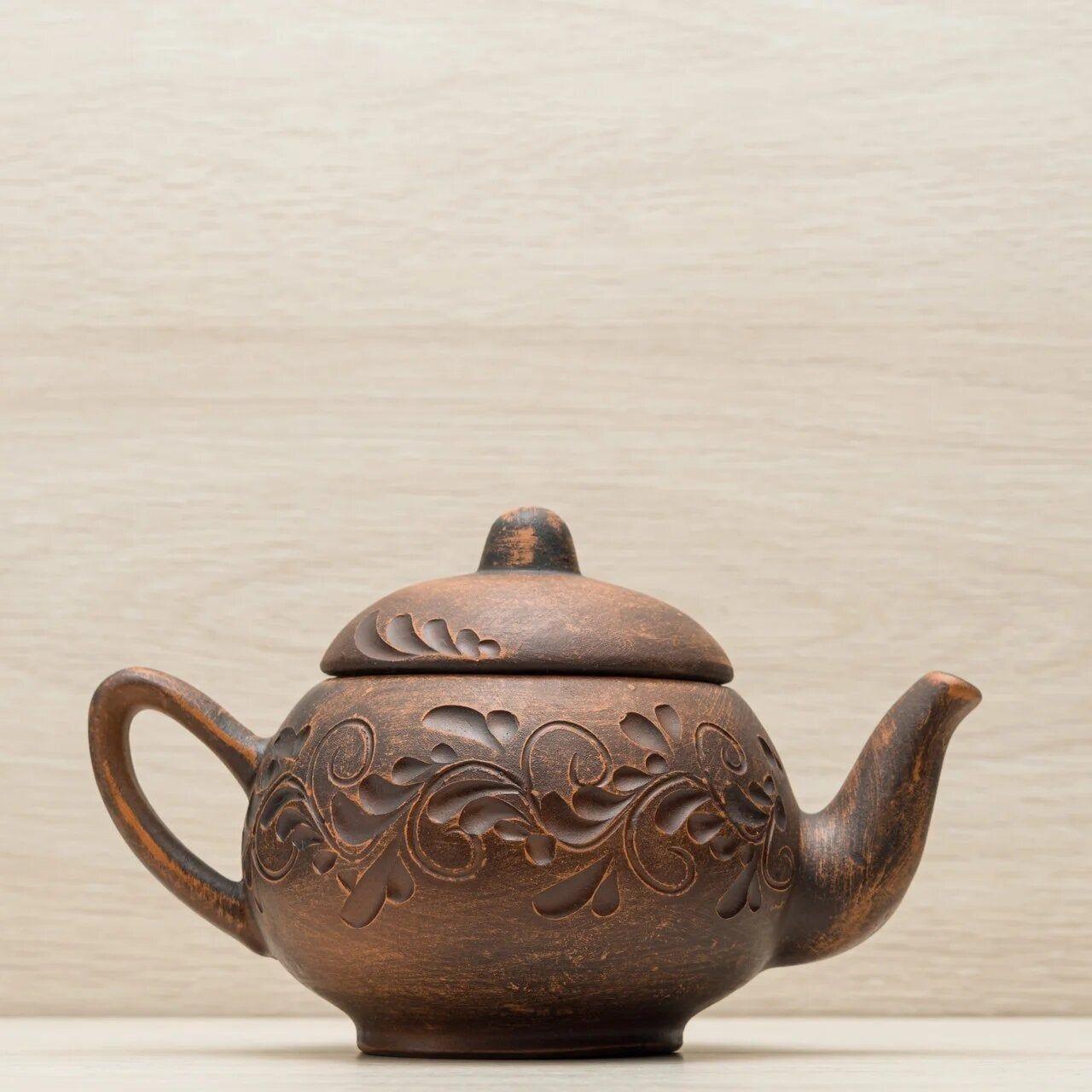 Pottery Teapot Clay Teapot Rustic Teapot Kettle For Tea Etsy In 2020 Pottery Teapots Clay Teapots Tea Pots