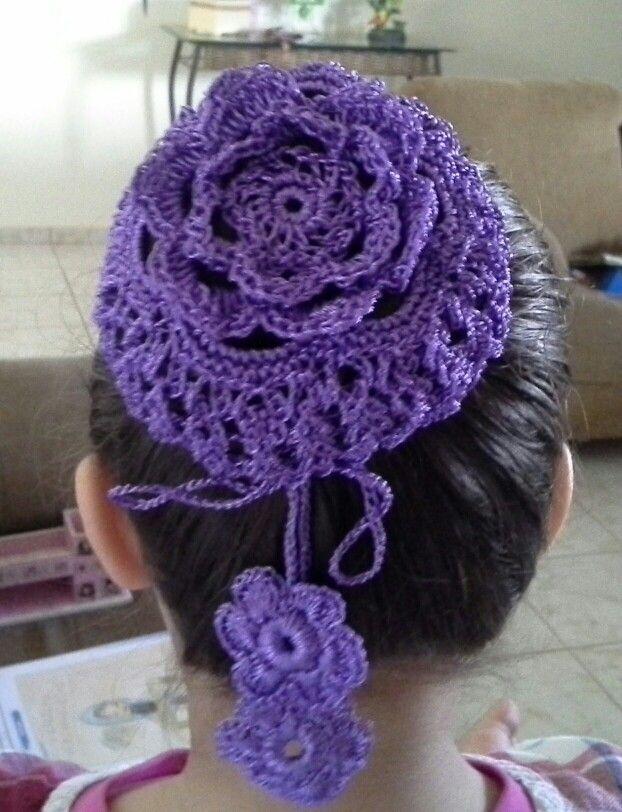 Redinha de cabelo para alunas de balé | Crochet - infantil | Pinterest