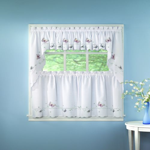 butterfly kitchen decor themes Kitchen Cafe Curtains
