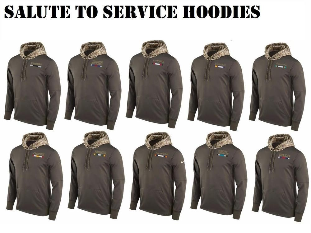 new concept 1e9f3 f584b NFL 2017 SALUTE TO SERVICE HOODIE MILITARY SWEATSHIRT USA on ...