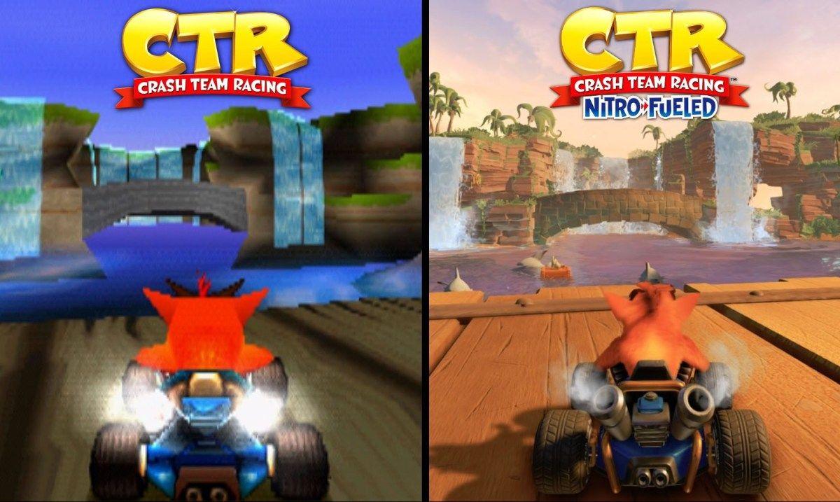 Crash Team Racing Nitro Fueled Original vs Remake Crash