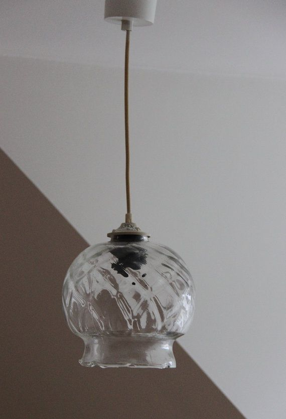 Clear Glass Ball Pendant Lighting Seventies Chandelier Suspension