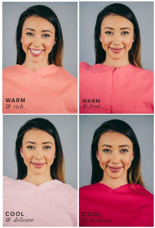 Best Pink For Warm Skin Dark Hair Amp Eyes Seasonal Color