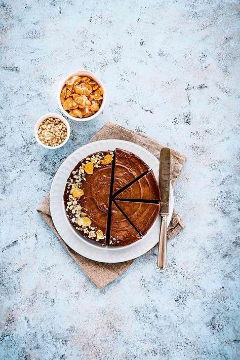 Cheesecake al cacao e nocciole senza cottura