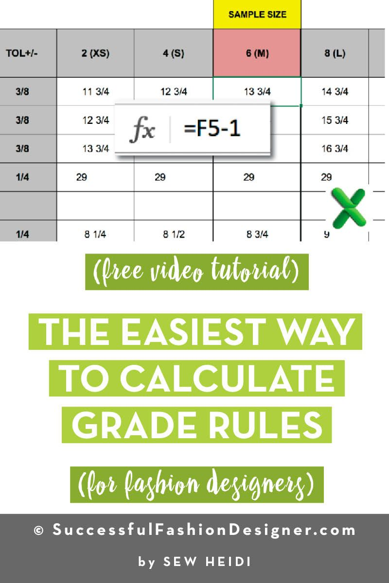 How To Auto Calculate Grade Rules In Your Tech Pack Using Formulas