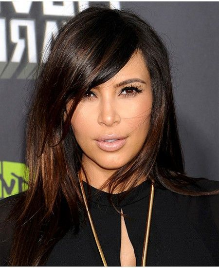 Winter chameleon update your look with these winter hair colour medium length hair artistic chestnut highlights on sliced cut kim kardashian hairstyle pmusecretfo Image collections