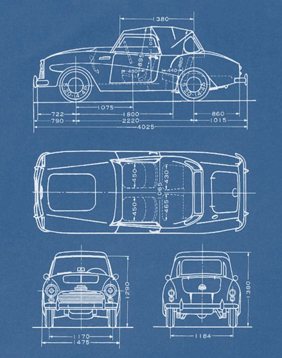 Car blueprints auto blue print boys mens wall art by colorjar wall car blueprints auto blue print boys mens wall art by colorjar malvernweather Image collections