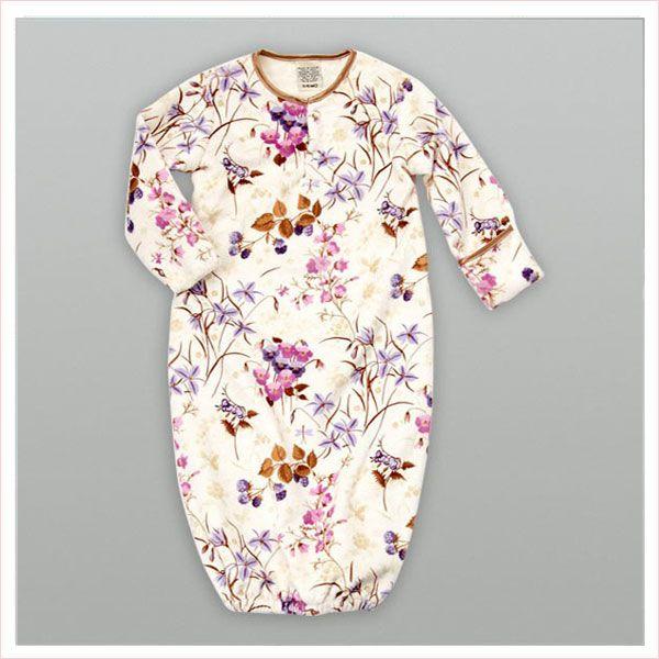 Blossom Purple Velour Newborn Sleeper Gown   My Blankee   Baby ...