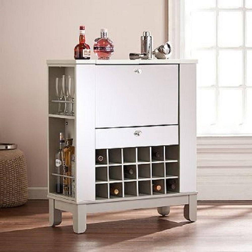 Liquor Storage Cabinet Home Bar Furniture Space Saving Wine Cube ...