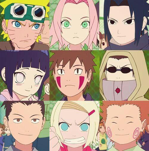 Naruto Sakura Sasuke Shikamaru Ino Choji Kiba: Naruto, Sakura, Sasuke, Hinata, Kiba, Shino, Shikamaru