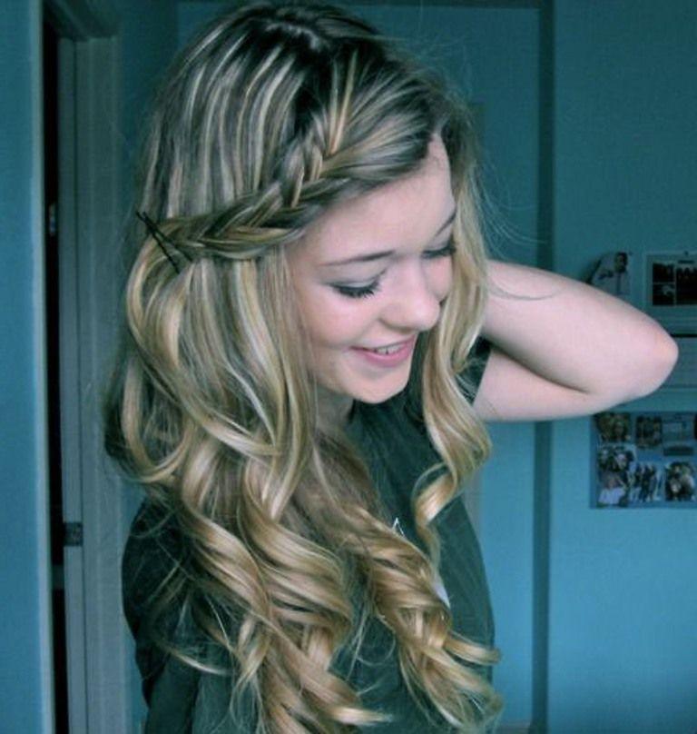 Cute Easy Hairstyles For Curly Hair Long Hair Styles Cute