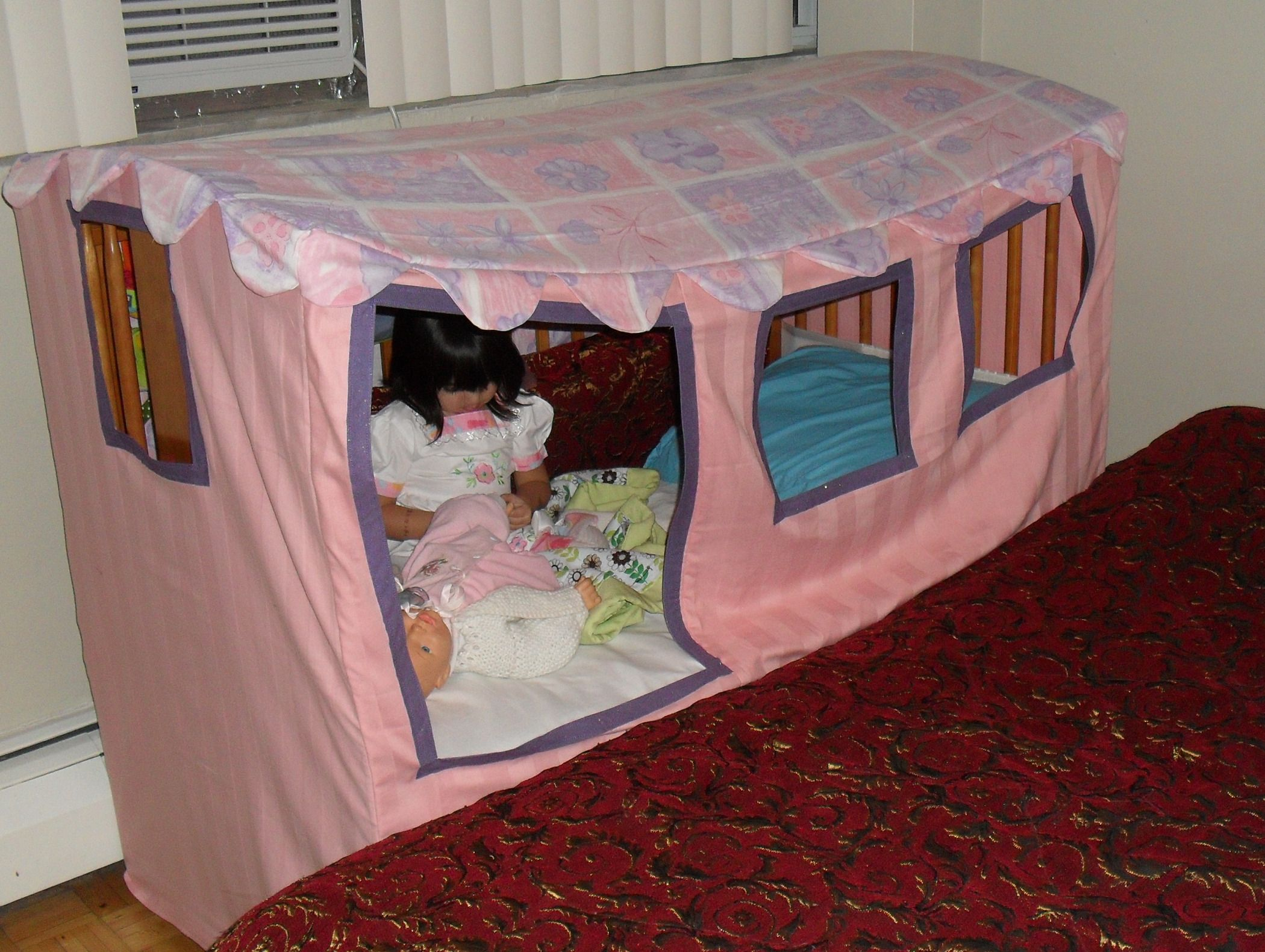 Cozy cottage crib canopy diy toddler bed crib canopy