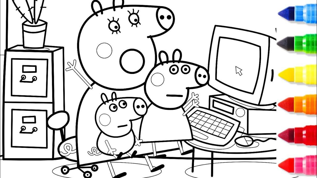 Peppa Pig Voving Coloring Book From The Thousands Of Pictures On The Net With Regards To Peppa Pig Vov Peppa Pig Coloring Pages Coloring Pages Coloring Books